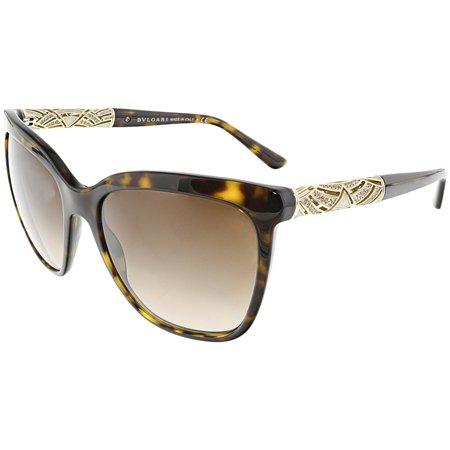 Bvlgari Women's Gradient BV8173B-504/13-56 Brown Square Sunglasses