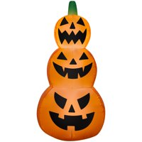 Gemmy Industries Yard Inflatables Jack-O-Lantern Stack, 4 ft