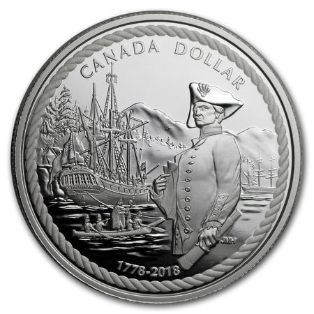 2018 Canada Proof Silver Dollar Captain Cook at Nootka Sound ()