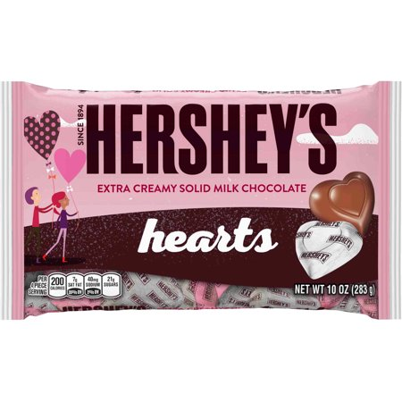 HERSHEY\'S Valentine\'s Extra Creamy Milk Chocolate Hearts, 10 oz ...