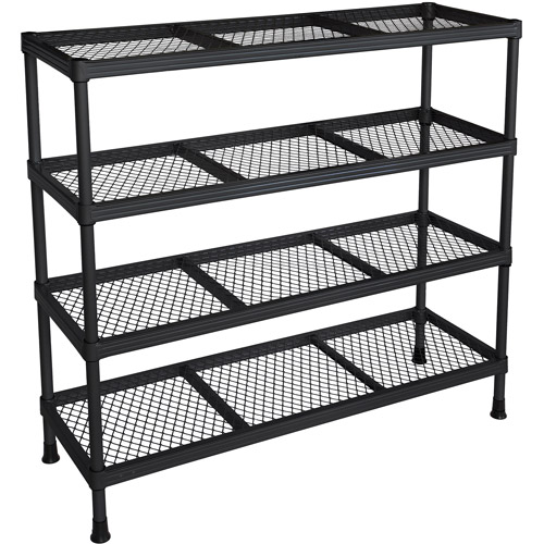 "Muscle Rack 31""W x 31""H x 11""D 11-Shelf Wire Shelving, Black"
