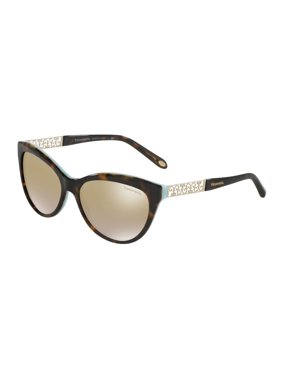 ad0a8430f50 Product Image Tiffany And Co. Women s TF4119-81343B-56 Brown Cat Eye  Sunglasses
