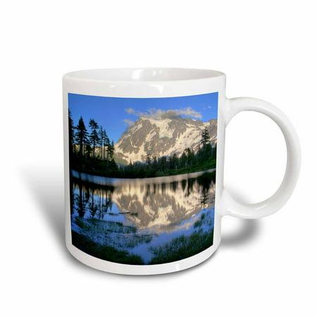 3dRose Mt Shuksan, Picture Lake, North Cascades, Washington - US48 CHA0079 - Chuck Haney, Ceramic Mug, 11-ounce