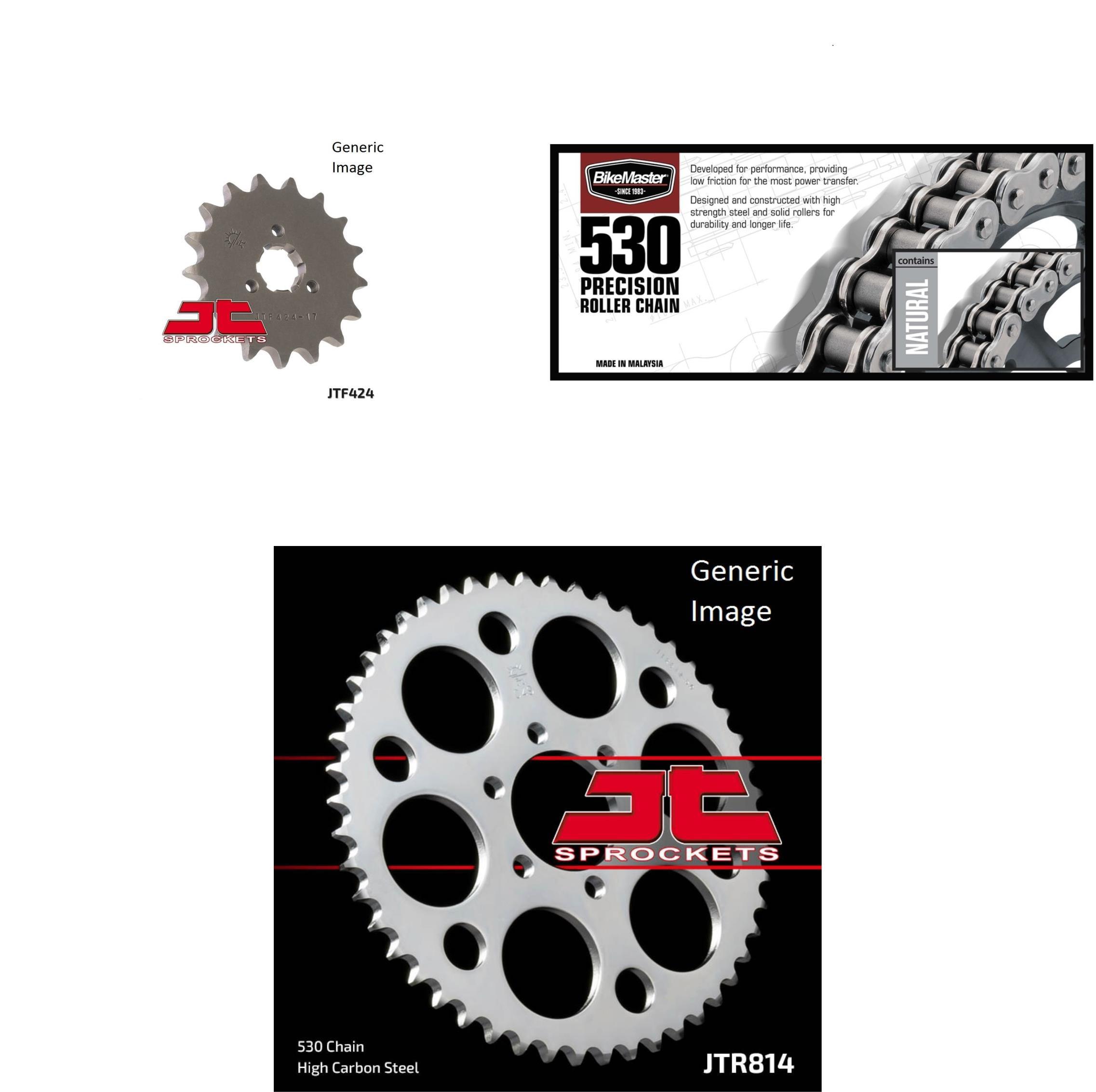 BIKEMASTER 530 Precision Roller Chain Natural, JT Front &...