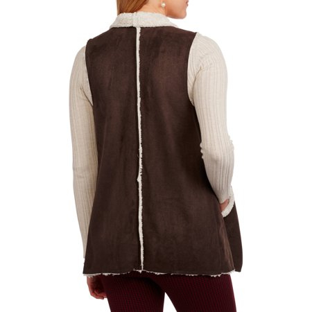 French Laundry Women's Flyaway Faux Fur Vest