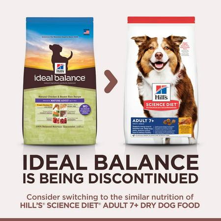 Ideal Balance Dog Food >> Hill S Ideal Balance Mature Adult Natural Chicken Brown Rice Recipe Dry Dog Food 15 Lb Bag