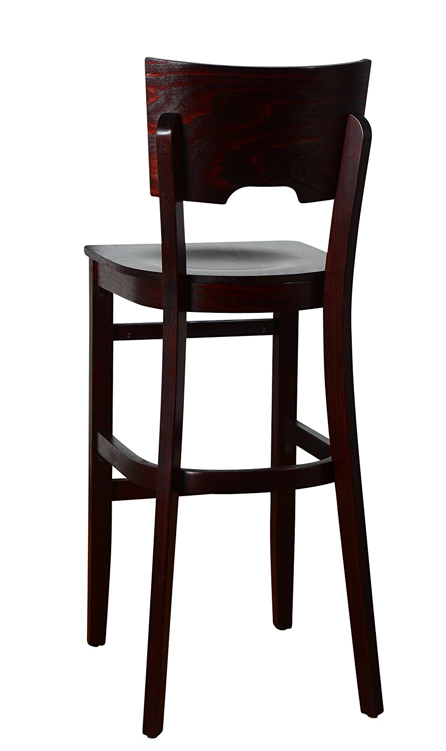 Beechwood Mountain BSD-11BW-Dm Solid Beech Wood bar Stool in Dark Mahogany with Wood Seat for Kitchen & Dining, NA by Overstock