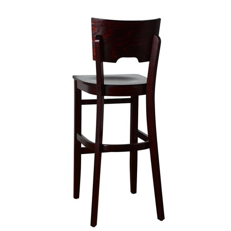 - Beechwood Mountain BSD-11BW-Dm Solid Beech Wood bar Stool in Dark Mahogany with Wood Seat for Kitchen & Dining, NA
