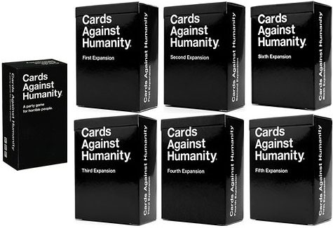 Cards Against Humanity Starter Plus 6 Expansion Sets Card Game by Cards Against Humanity LLC.