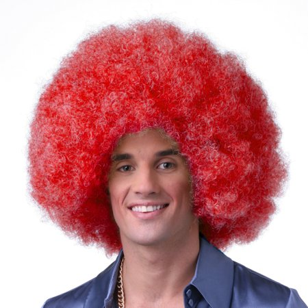Sepia Costume Color Afro Synthetic Wig - Red - image 1 de 1