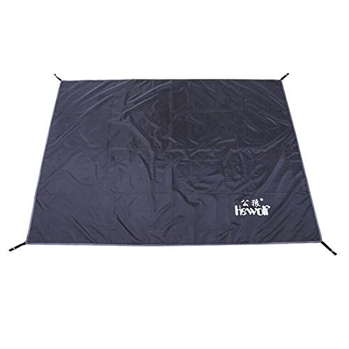 Hewolf 77Inch x 59Inch Black Color Thick Oxford Cloth Tent Footprint Waterproof Sleeping Pads for Camping Hiking Backpacking Picnic Shelter Shade Canopy Outdoor Activities - image 1 de 1