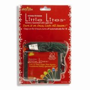 Set of 20 Bright Multi-Color LED Micro Rice Christmas Lights - Green Wire