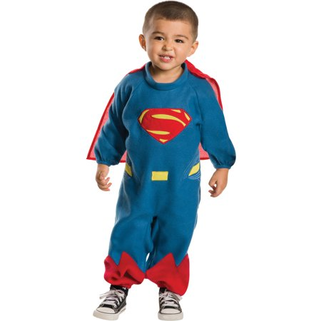 Superman Ez-On Romper Toddler Halloween - Man Of Steel Toddler Costume