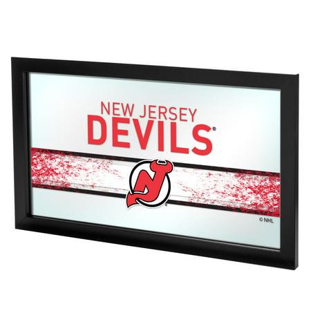 Nhl Rink Mirror (NHL Framed Logo Mirror, New Jersey)
