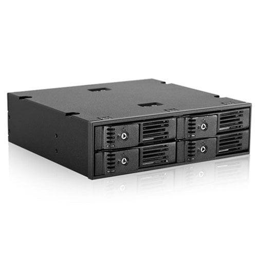 Istarusa 150169 Storage Bpn-124k-sa 5.25inch To 4x2.5inch Sata 6gb/s Trayless Hot-swap Cage Retail