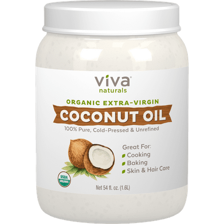 Viva Naturals Organic Extra Virgin Coconut Oil, 54 Fl (Tropical Traditions Coconut Oil)