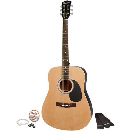 "acoustic guitar picture  Maestro by Gibson MA41BKCH 41"" Full Size Acoustic Guitar Kit ..."