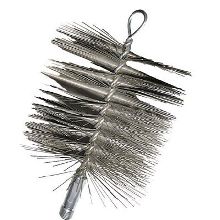 Mfg Wire Chimney Brush 6-Inches Diameter,Round, Use with clay or stainless steel chimneys By Imperial