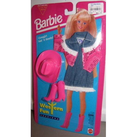 Barbie Fashion Outfit Western Pink Mint on card 1994 by Mattel - image 1 of 1