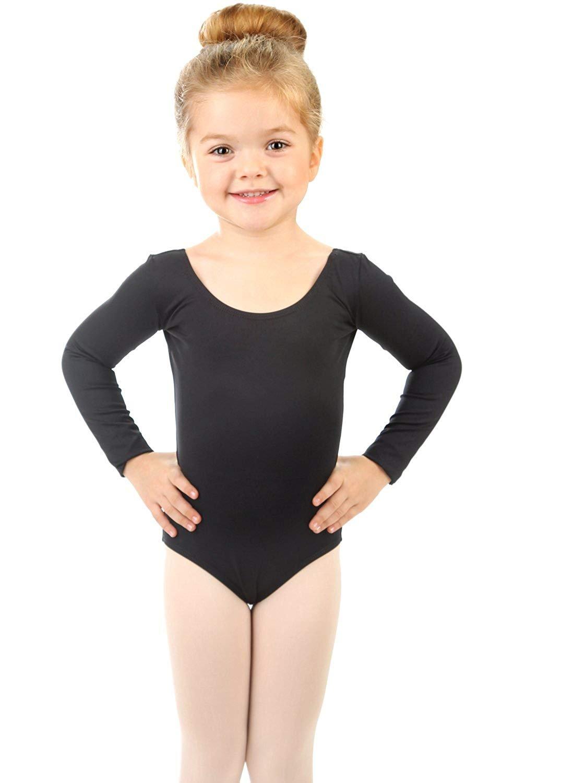 Elowel Girls' Team Basics Long Sleeve Leotard Lavender (size 4-6)