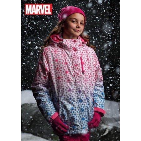 Marvel Avengers All Over Print Girls Ski Coat (Women Ski Jacket Columbia)