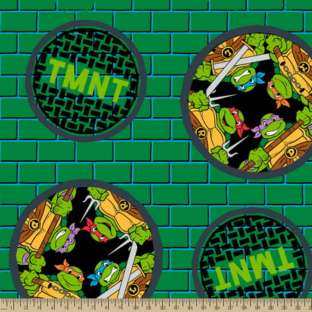 TMNT Badge, Fleece, Green, 59/60