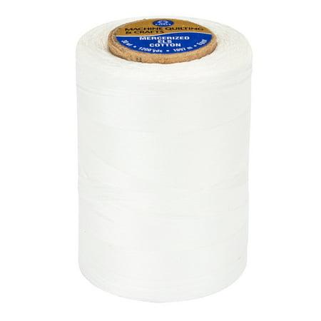 Coats Size 50 White Thread, 1200 Yd.