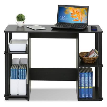 Compact Wood Desk - Furinno JAYA Compact Computer Study Desk, Espresso