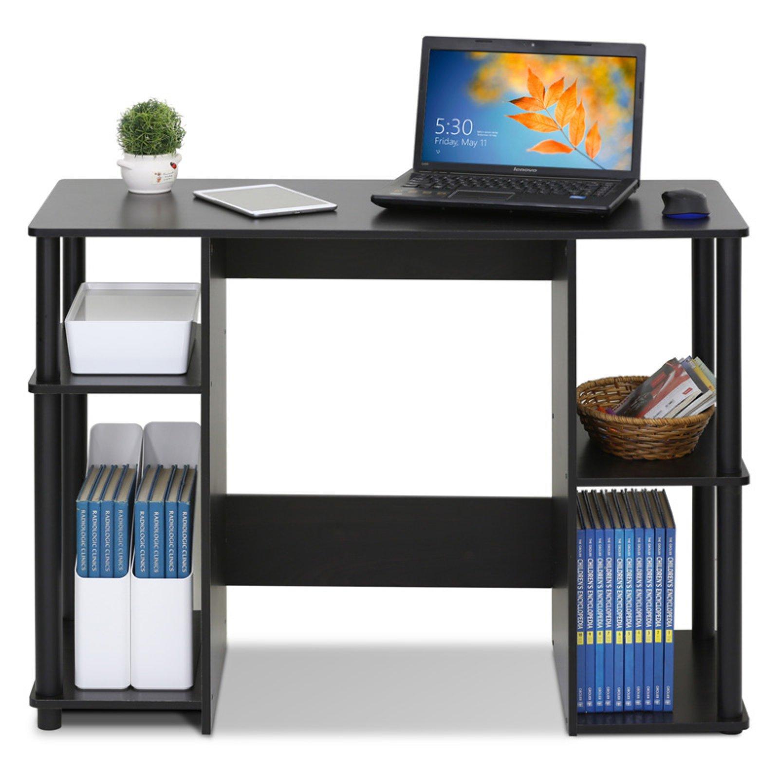 furinno jaya compact computer study desk espresso walmart