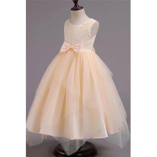 Kids Girls Floral Print Wedding Maxi Dress - Kids Maxi Dress