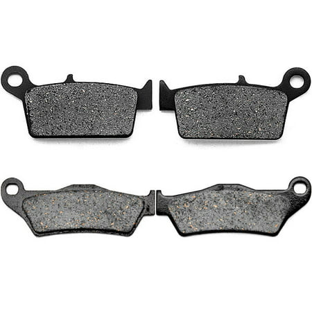 KMG Front + Rear Brake Pads for 2004-2008 TM MX 85 JR (2T) - Non-Metallic Organic NAO Brake Pads Set