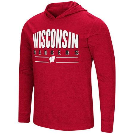 Mens Wisconsin Badgers Long Sleeve Tee Shirt Hoodie - - Halloween Wisconsin