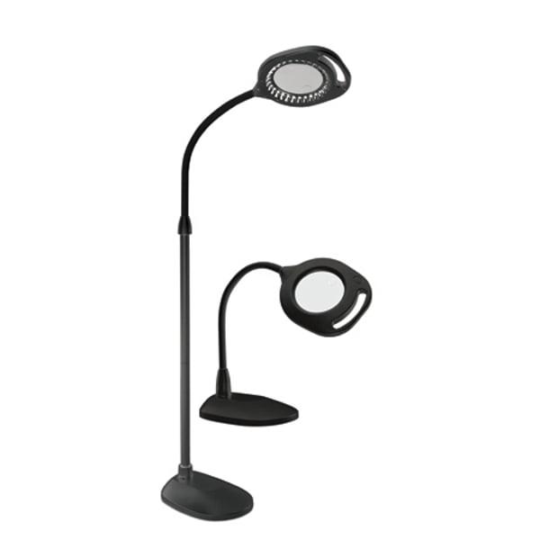 Magnifying LED Floor Lamp Reading Light 2X Magnifier Lens Read Flexible Neck S
