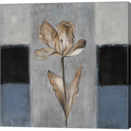 Metaverse C870306-0120000-AAAACMA Tulips in Blue I by Lanie Loreth Canvas Wall Art - 12 x 12 in. - One Tulip Canvas