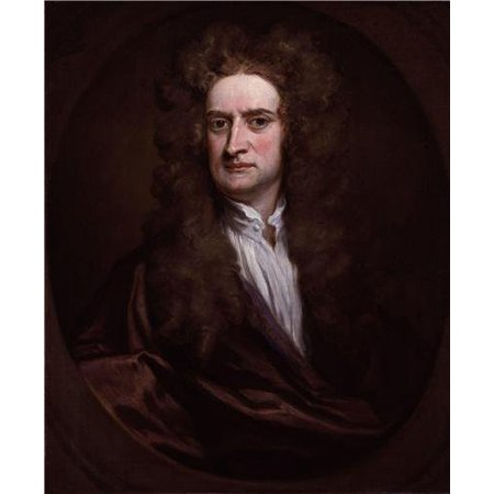 Laminated Poster Sir Isaac Newton Glossy Poster Law Motion Natural Philosopher Poster Print 24 x 36 ()