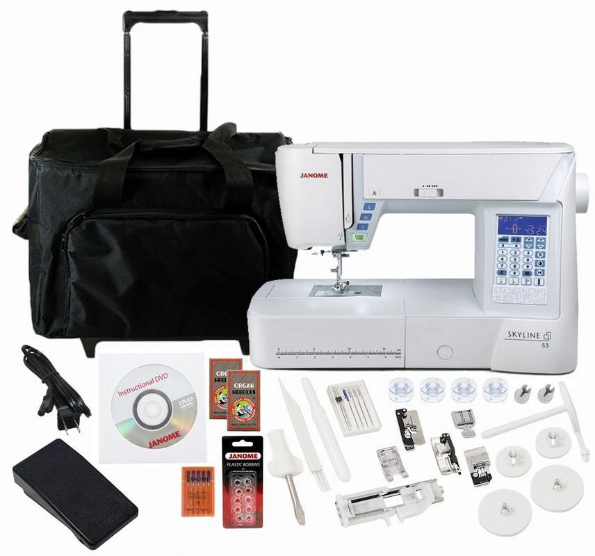 Janome Skyline S3 Computerized Sewing Machine w/ Free Bonus Package!