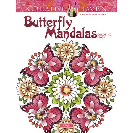 Creative Haven Butterfly Mandalas Coloring Book (Halloween Mandalas Coloring)