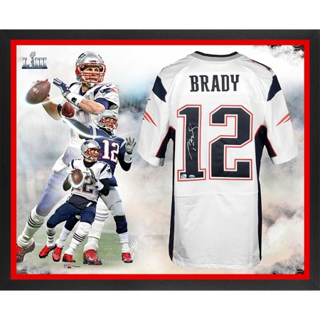 Tom Brady New England Patriots Framed Autographed Super Bowl LIII Champions White Elite Jersey Super Bowl LIII Champions Collage - TRISTAR - Fanatics Authentic Certified
