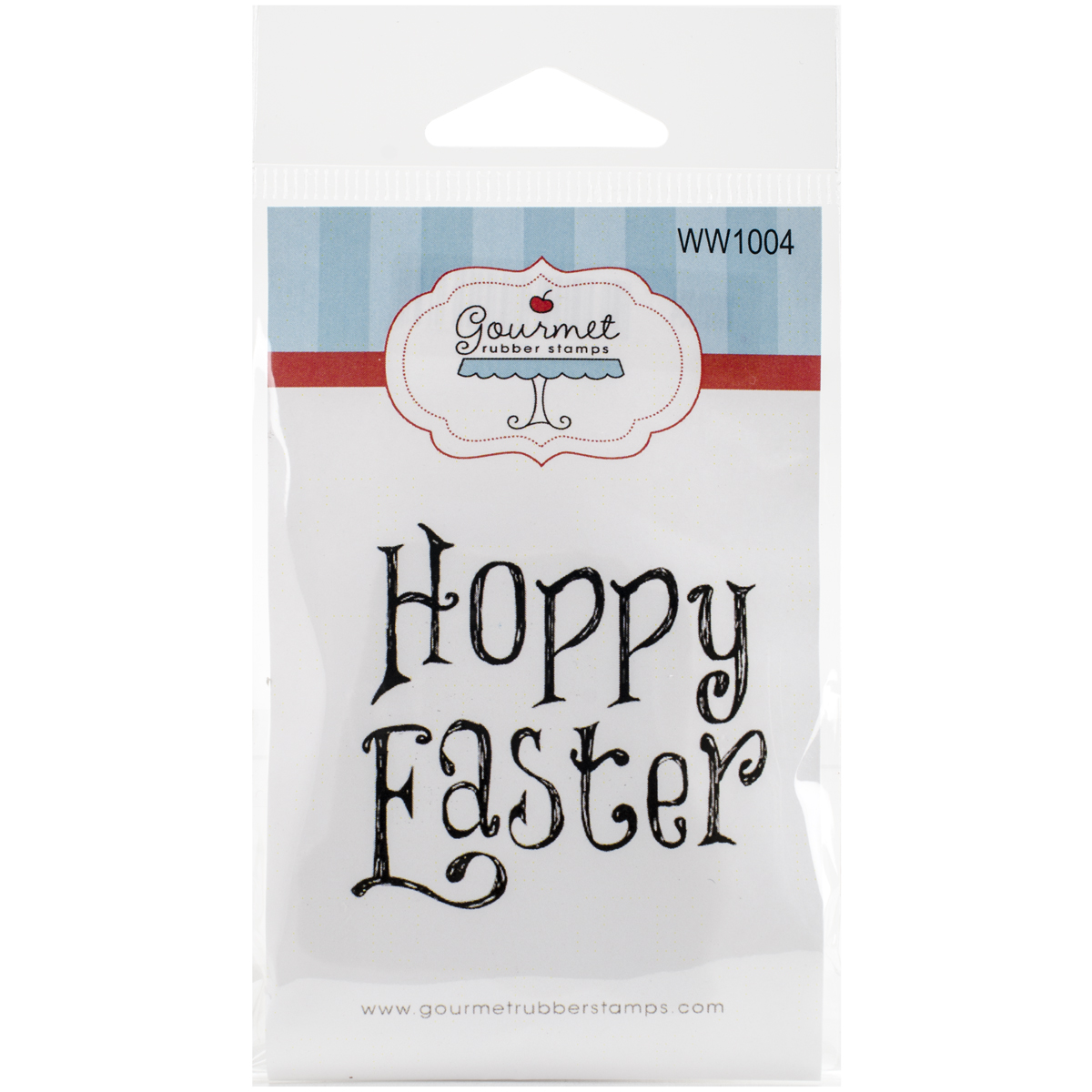 "Gourmet Rubber Stamps Cling Stamps 2.75""X4.75""-Hoppy Easter"