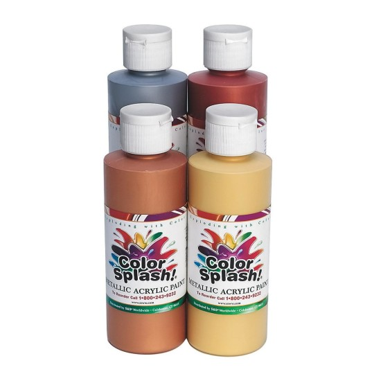 8-oz. Color Splash! Metallic Acrylic Paint-Bronze