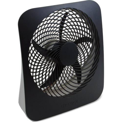 "O2Cool 10"" Battery or Electric Portable Fan, Graphite"