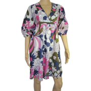 Womens 'Witney' V-Neck V Dress, Multi, Size M/40