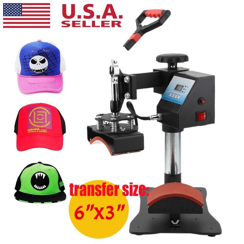 Professional Heat Press Machine Cap Plate Press Machine Hat Heat Transfer Printing Machine 350W Cap Plate Printing