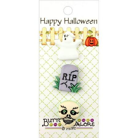 Spooky - Buttons Galore Halloween Buttons 3/Pkg](Halloween Buttons)