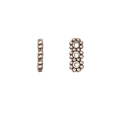 Pkg Daisy - 3-Strand Rondelle Daisy Spacer Antique-Silver Plated 10.5x4.4mm Sold per pkg of 20
