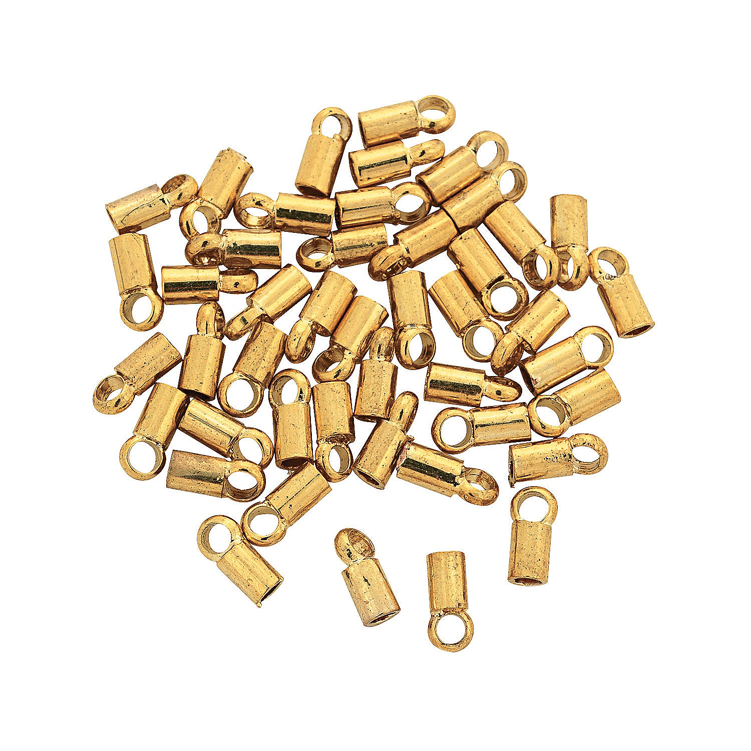IN-68/45796 Goldtone Crimp Tubes with Loop 100 Piece(s)