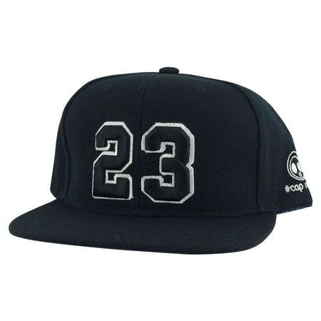 1e8513e525d757 Player Jersey Number  23 Snapback Hat Cap x Air Jordan   Lebron - Black  White - Walmart.com