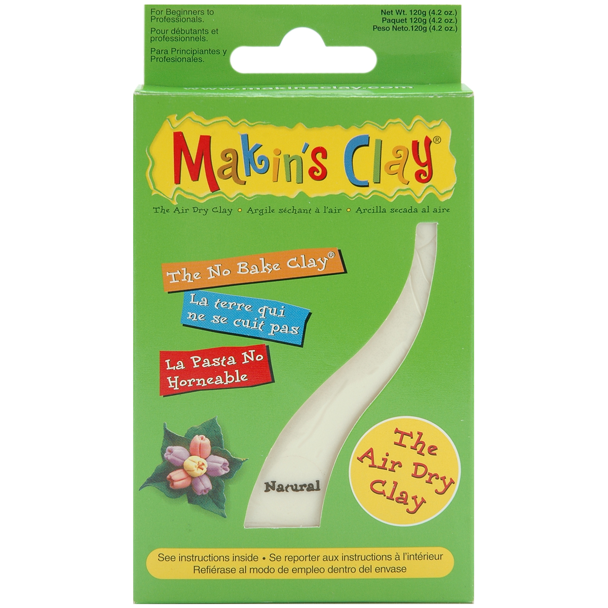Makin's Clay Air-dry Clay 120g-Natural