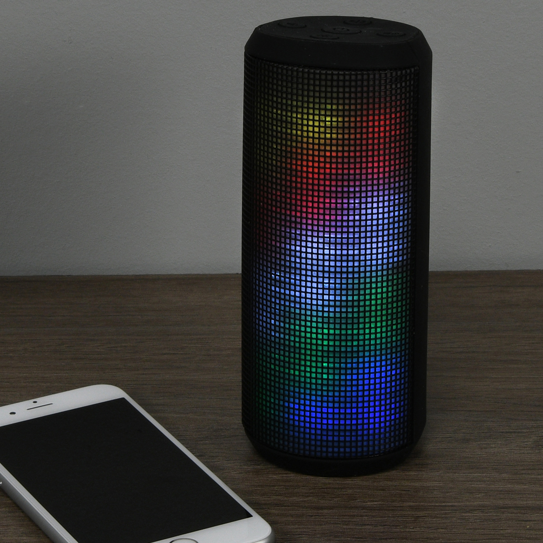 Blackweb Highwire Portable Wireless Bluetooth Speaker With Led Light