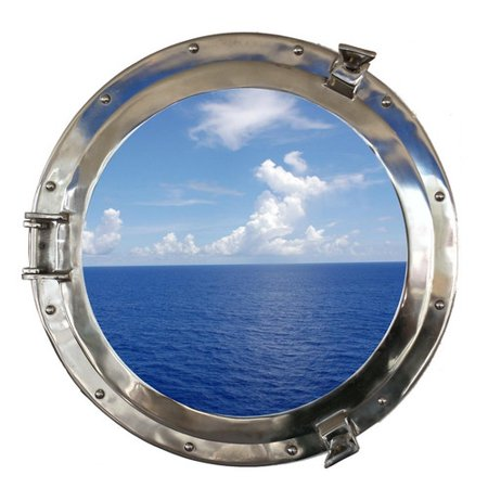 handcrafted nautical decor decorative ship porthole window wall d cor. Black Bedroom Furniture Sets. Home Design Ideas